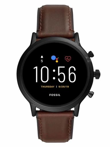 Fossil Gen 5 Smartwatch The Carlyle HR Dark Brown Leather-FTW4026