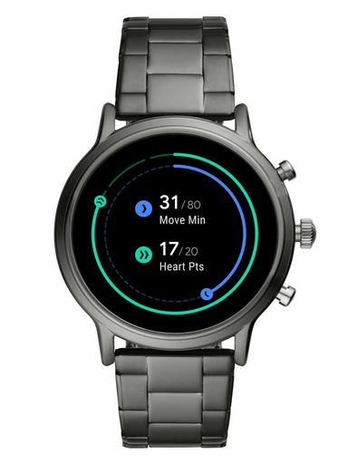 fossil gen 5 smartwatch the carlyle hr smoke stainless steel-FTW4024