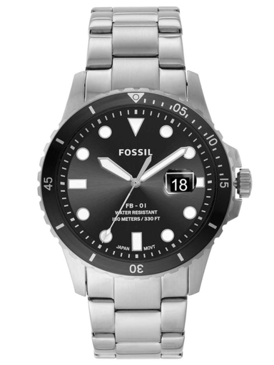 fossil fb-01 three-hand date stainless steel watch-FS5652I