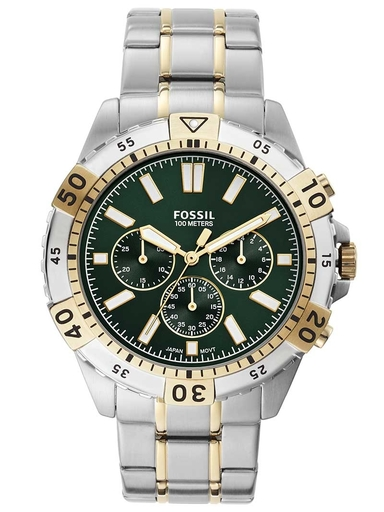 fossil garrett chronograph two-tone stainless-steel watch-FS5622I