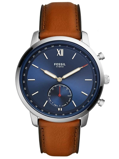 fossil hybrid smartwatch neutra luggage leather-FTW1178