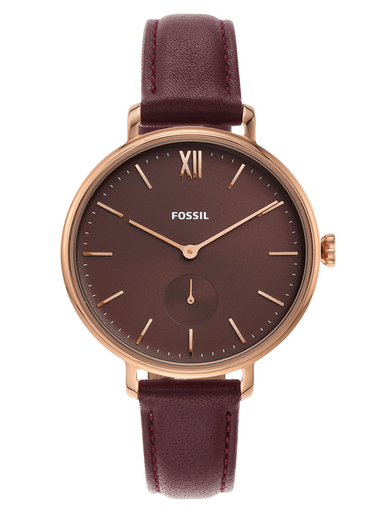 Fossil Kalya Three-Hand Fig Leather Watch-ES4665I