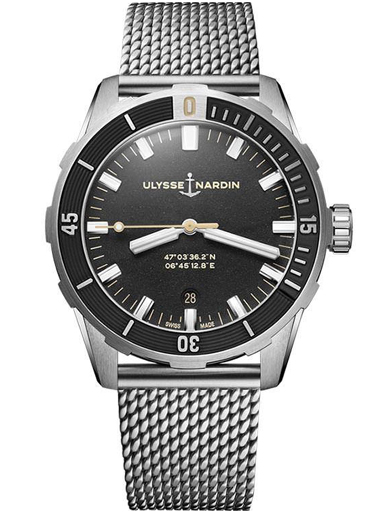 Ulysse Nardin Diver Automatic Black Dial Men's Watch-8163-175-7MIL/92