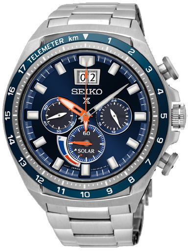 Seiko Solar Blue Dial Men's Watch SSC601P1-SSC601P1