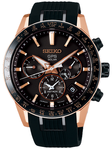 Seiko GPS Solar Black Dial Men's Watch SSH006J1-SSH006J1