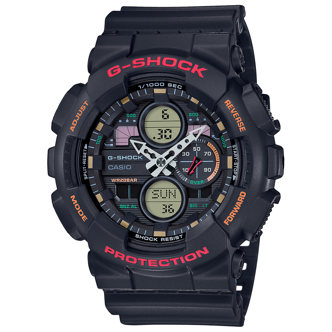 Casio G-Shock GA-140-1A4DR (G976) Analog-Digital Men's Watch-G976