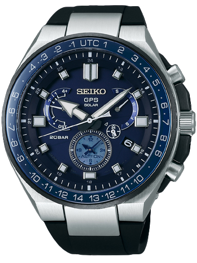 Seiko Astron GPS Solar Blue Dial Men's Watch SSE167J1-SSE167J1