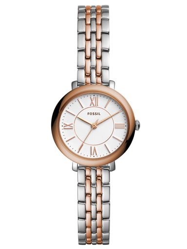 fossil jacqueline mini three-hand two-tone stainless steel watch-ES4612