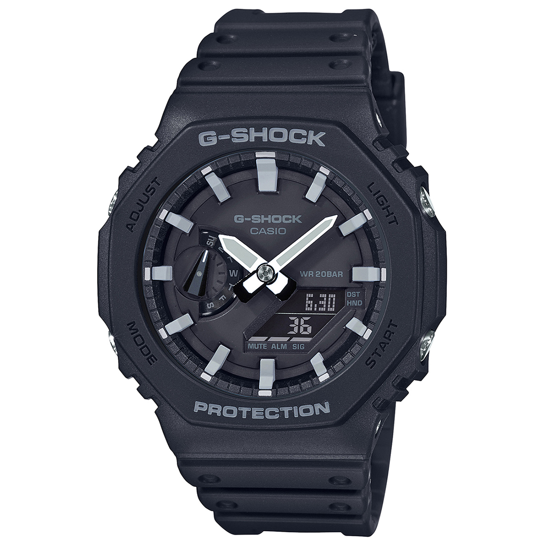 Casio G-Shock GA-2100-1ADR (G986) Carbon Core Guard Men's Watch-G986
