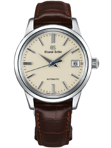 Grand Seiko Elegance Men Date Automatic Beige Dial Brown Leather Strap Watch-SBGR261G