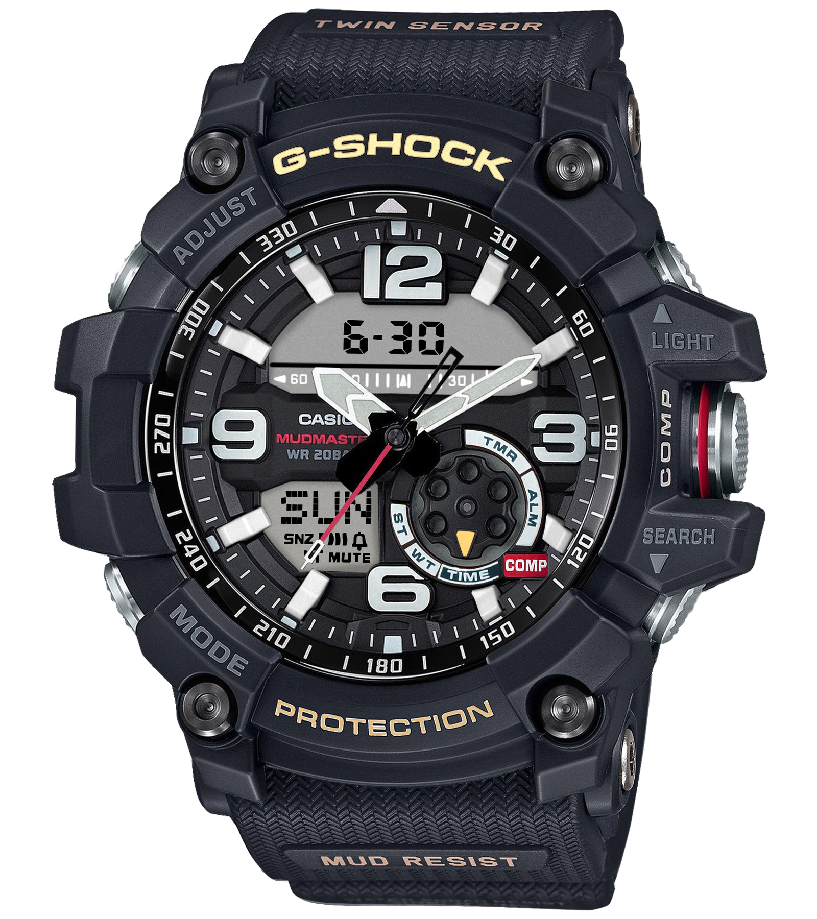 Casio G-Shock Analog-Digital Black Dial Men's Watch - GG-1000-1ADR-G660