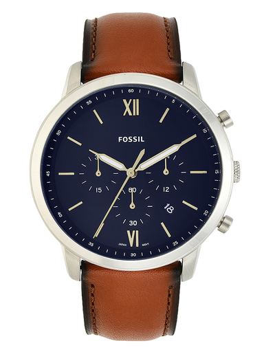 fossil neutra chronograph brown leather men watch-FS5453I