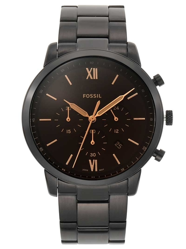 Fossil Neutra Chronograph Black Stainless Steel Analog Watch-FS5525