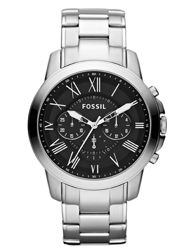 fossil grant chronograph stainless steel watch-FS4736IE