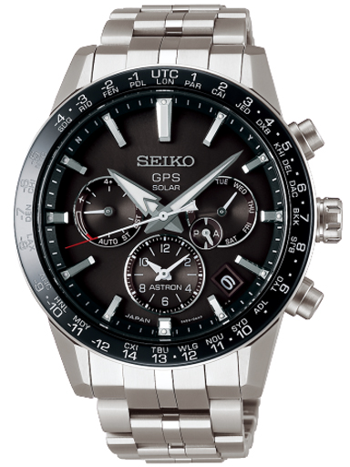 Seiko GPS Solar Black Dial Men's Watch SSH003J1-SSH003J1