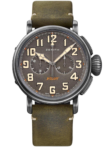 Zenith Heritage Pilot Type 20 Chronograph Automatic Men's Watch-11.2430.4069/21.C773