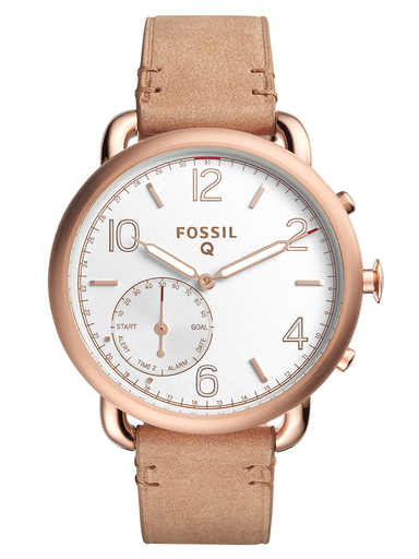 Fossil Hybrid Smartwatch Tailor Light Brown Leather-FTW1129