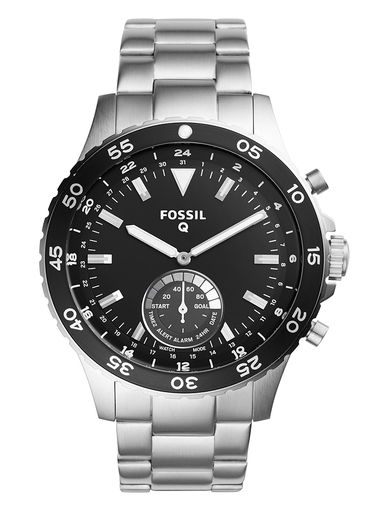 Fossil Hybrid Smartwatch Crewmaster Stainless Steel-FTW1126