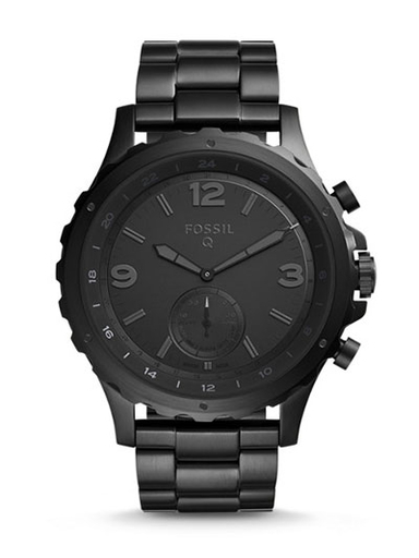 Fossil Hybrid Smartwatch Nate Black Stainless Steel-FTW1115