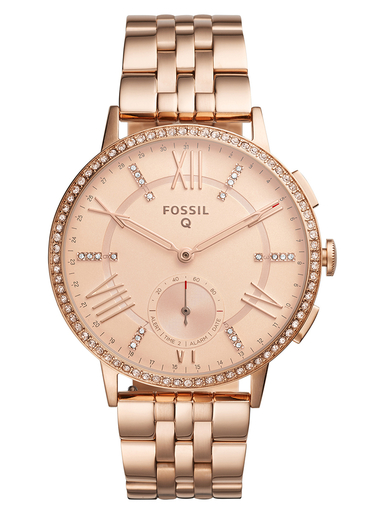Fossil Hybrid Smartwatch Gazer Rose Gold-Tone Stainless Steel-FTW1106