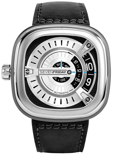Seven Friday M Series Silver Dial Black Rubber Automatic Men's Watch M1/01-SF -M1/01