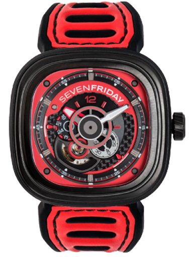 Seven Friday P3B/06 Racing Team Automatic Red Dial Men's Watch-P3B/06