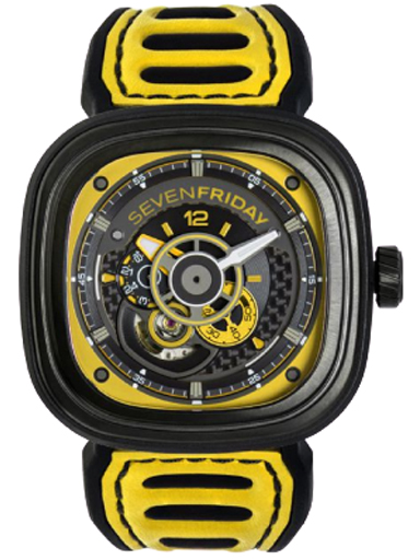 Seven Friday Racing Team Automatic Yellow Dial Men's Watch P3B/03-P3B/03