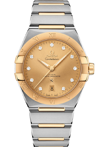 Omega Constellation Co-Axial Master Chronometer 39 mm Gold Diamond Dial Women's Watch-O13120392058001