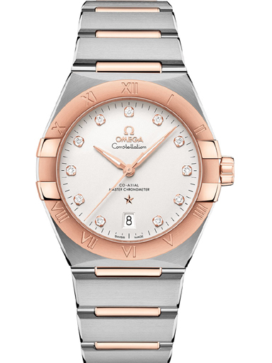 Omega Constellation Co-Axial Master Chronometer 39 mm Silver Diamond Dial Women's Watch-O13120392052001