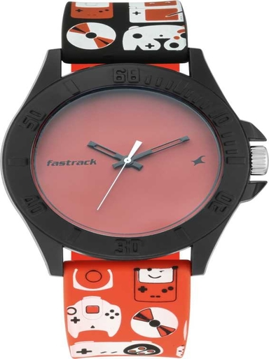 Fastrack Arcade Red Dial Unisex Watch-68013PP02