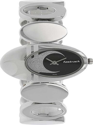 Fastrack Analog Black Dial Women's Metal Watch-NM6024SM01
