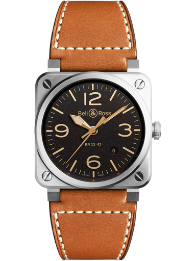 Bell & Ross BR03-92 Automatic 42mm Men's Watch-BR0392-ST-G-HE/SCA