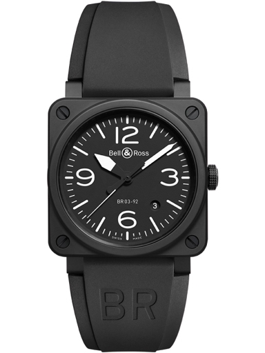 Bell & Ross BR0392-BL-CE Black Dial Men's Watch-BR0392-BL-CE