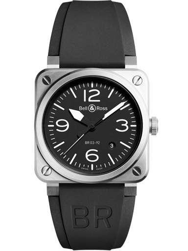Bell & Ross BR03-92 Steel Automatic 42mm Men's Watch-BR0392-BLC-ST