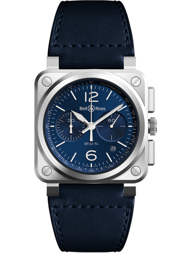 Bell & Ross BR03-94 Chronograph 42mm Men's Watch-BR0394-BLU-ST/SCA
