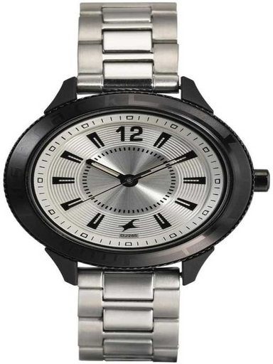 fastrack womens silver dial metallic analogue watch-NL6176KM14