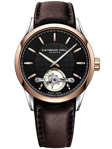 Raymond Weil Freelancer Calibre RW1212 Men's Automatic Rose Gold Brown Leather 42mm Watch-2780-SC5-20001