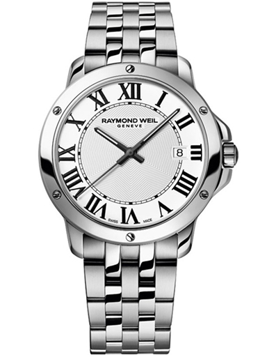 Raymond Weil Tango White Dial Stainless Steel Men's Watch-5591-ST-00300