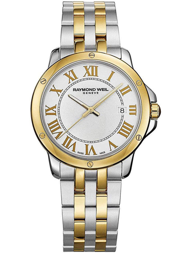 Raymond Weil Tango White Dial Stainless Steel Men's Watch-5591-STP-00308