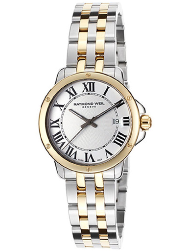 Raymond Weil Tradition White Dial Stainless Steel Ladies Watch-5391-STP-00300