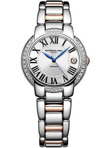 Raymond Weil Jasmine Silver Dial Rose Gold Stainless Steel Ladies Watch-2935-S5S-00659