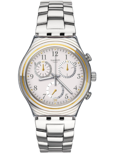 Swatch Irony Men Quartz Silver Chronograph Dial 40 mm Watch-YCS586G