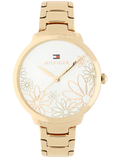 tommy hilfiger flowery silver dial women's watch nbth1781780-NBTH1781780