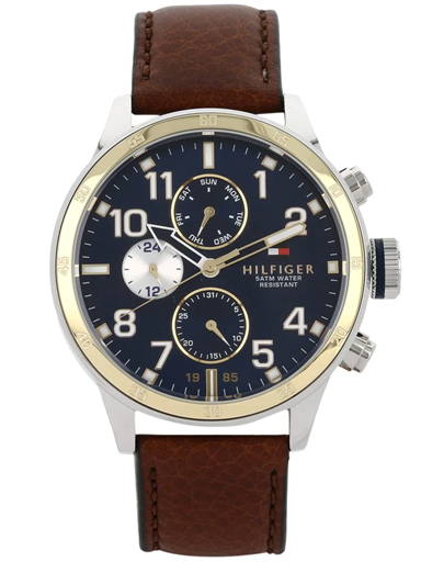 tommy hilfiger multi-function blue dial men's watch nbth1791137-NBTH1791137