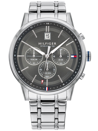 tommy hilfiger chronograph grey dial watch for men's th1791632-TH1791632