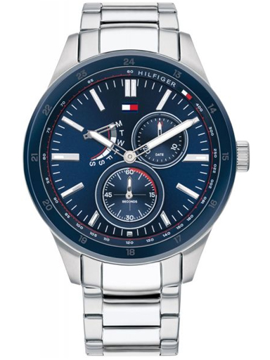 tommy hilfiger blue multi-function dial watch for men's th1791640-TH1791640