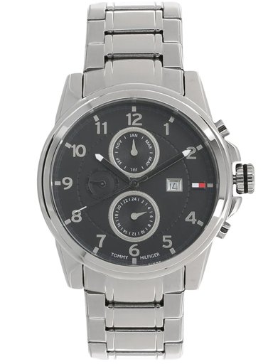 tommy hilfiger multi-function black dial watch for men's nbth1710296-NBTH1710296