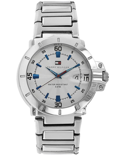Tommy Hilfiger White Dial Metal Strap Watch For Men's NBTH1790468-NBTH1790468