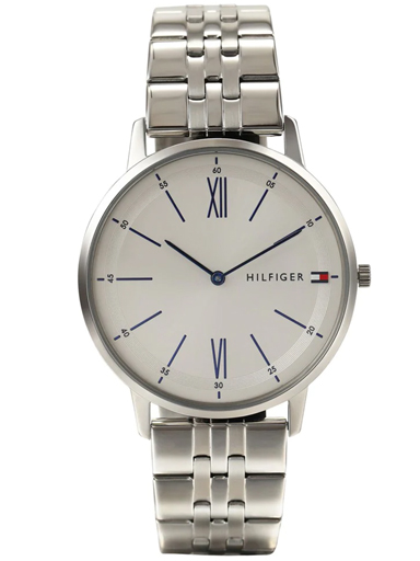 tommy hilfiger white dial slim watch for men's nbth1791511-NBTH1791511