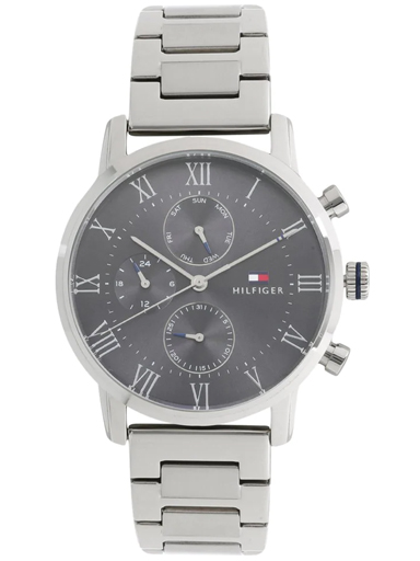 Tommy Hilfiger Black Dial Silver Metal Strap Men's Watch NBTH1791397-NBTH1791397